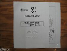 Crosman 1322 1377 Seal - Repair Kit - Valve & Breech Bolt Seals - Exploded View