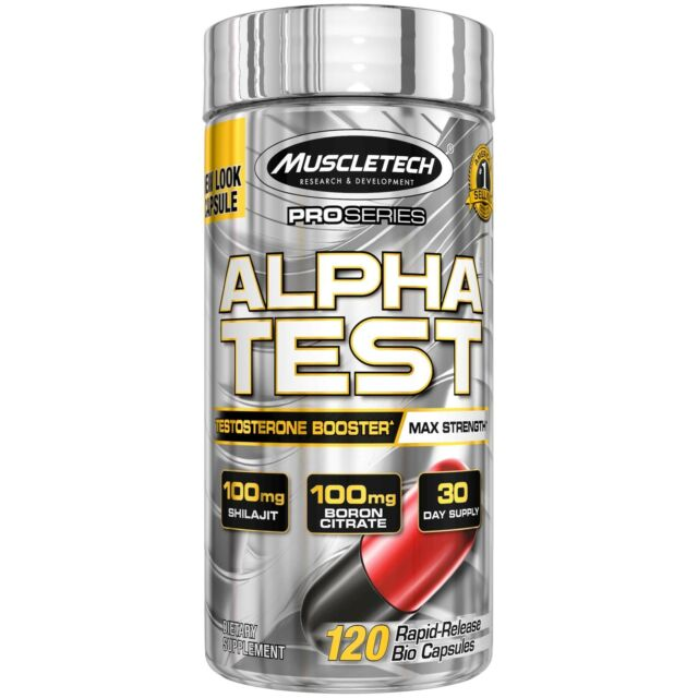 MuscleTech AlphaTest ATP & Testosterone Booster for Men, Boost Free Testoster...