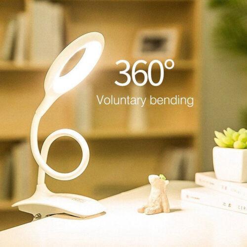 5EBA 20LED Klemm-Leuchte dimmbar Leselampe flexibel Tisch-Lampe Nachttisch Licht