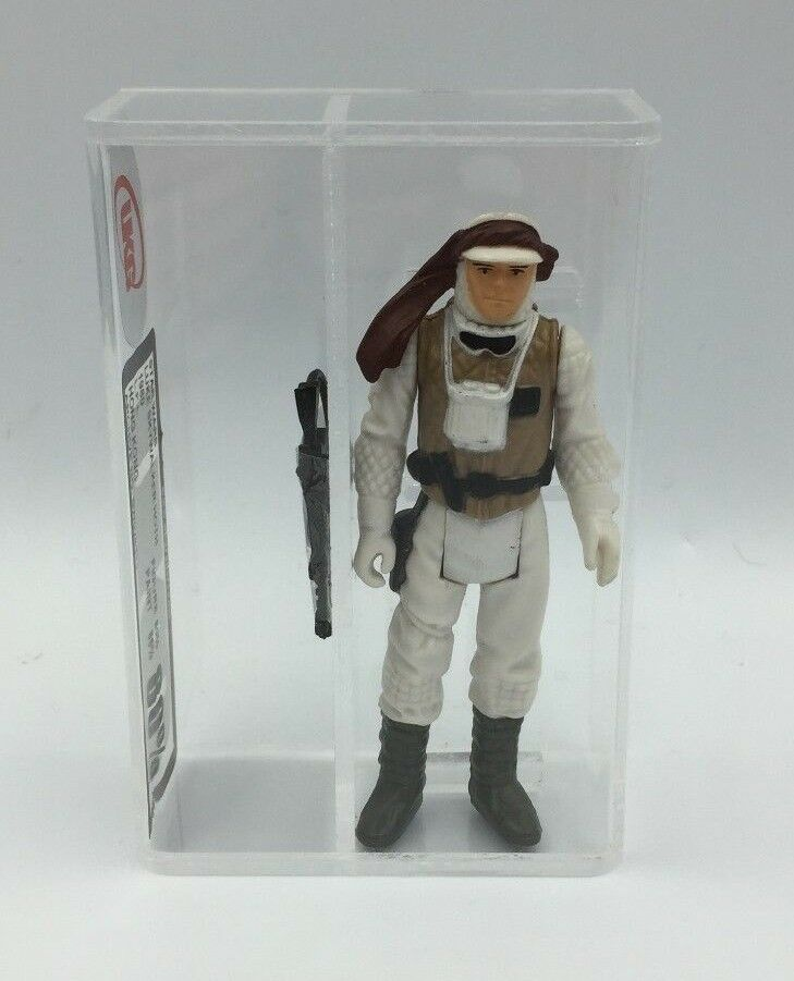 Vintage Star Wars Figure Luke Skywalker Hoth UKG not AFA 80% 1980 LFL Hong Kong