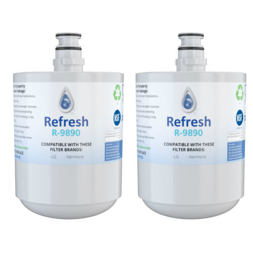 Refresh Replacement Water Filter 2 Pack Fits LG 5231JA2002B Refrigerators