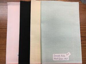 "Zweigart's Hardanger Fabric 22 Count Fat Quarter 18/"" x 21/"" Cross Stitch 7 Colors"
