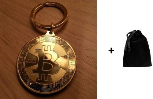Nouveau Plaqué or Bitcoin Coin Cadeau de Collection SOUVENEIR Livraison rapide de UK