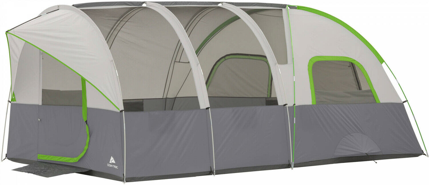 Ozark Trail Large Tents Modified Dome Tunnel Tent Sleeps 8 Person 16 x 8 Camping