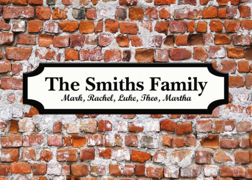 Personalised Surname Street Sign Wall Door Bedroom Plaque Family Gift