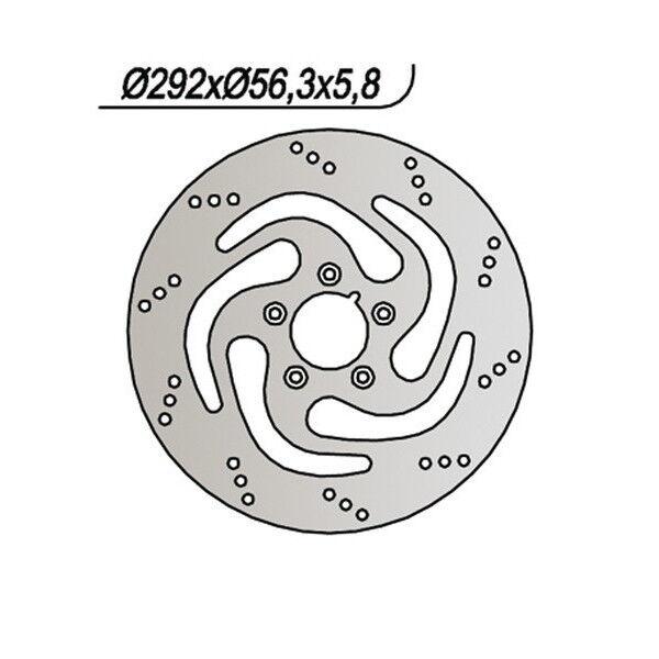 100% Waar Disco Freno Ng 738 292/82,5/56/5,84/5/8,5 H-d 1450 Fxdwg Dyna Wide Gl 2000-2003