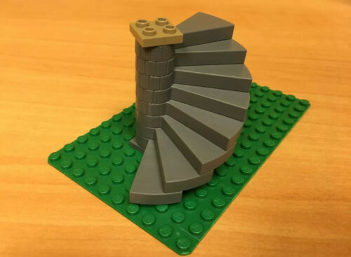 LEGO Parts Gray Stairs Spiral 8 Step Staircase Harry Potter 4842 9468 70403