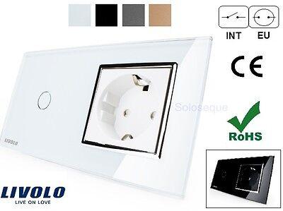 INTERRUPTOR LUZ PARED CRISTAL TACTIL EU LIVOLO Touch Screen Wall Light Switch