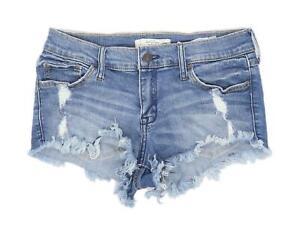 Womens-Abercrombie-amp-Fitch-Blue-Denim-Shorts-Size-W26-L1
