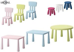 Image Is Loading IKEA MAMMUT SERIES Kids Chairs Stools Tables In