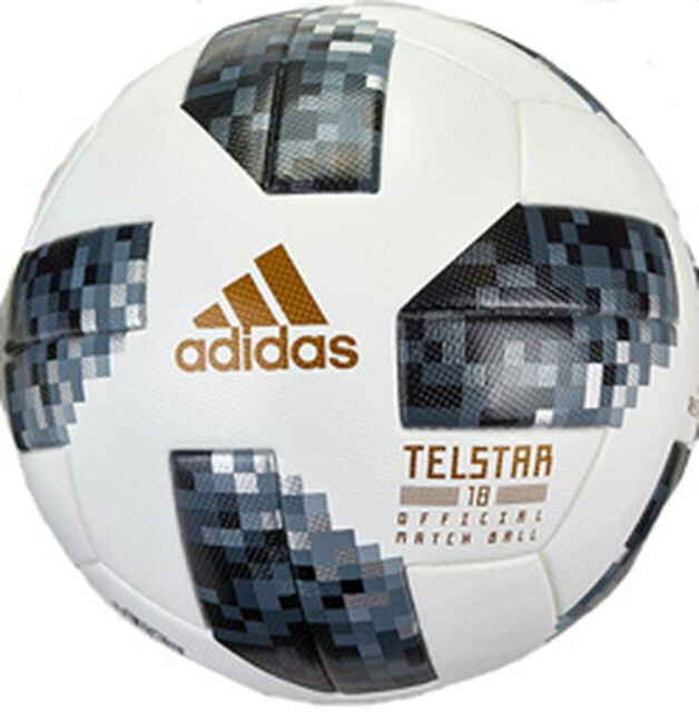 Artista Caramelo Saco  adidas 2018 FIFA World Cup Russia Telstar 18 Official Match Ball Size 5 -  White for sale online | eBay