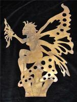 Fairy With Butterfly Large Metal Garden Yard Art Stake