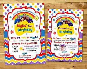 The wiggles invitation personalised invite birthday party boy girl image is loading the wiggles invitation personalised invite birthday party boy stopboris