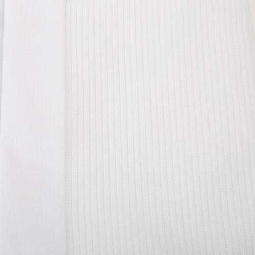 Bianco Uomo collo ad Alette Misto Cotone Smoking Nero Cravatta Abito da Sposa