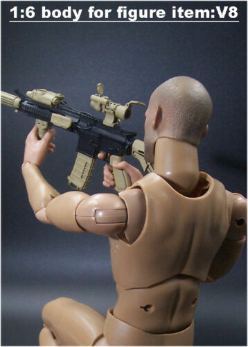 """In-Stock 1//6 Scale Male Body For Mordern Military 12/"""" Figure V8 BW//O Neck"""