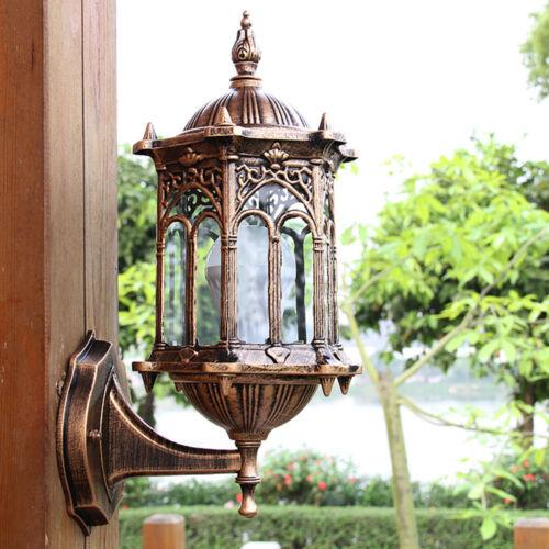 Antik Außenwandleuchte Terrasse Gartenleuchte Wandleuchte E27 Aussenlampe 5W-30W