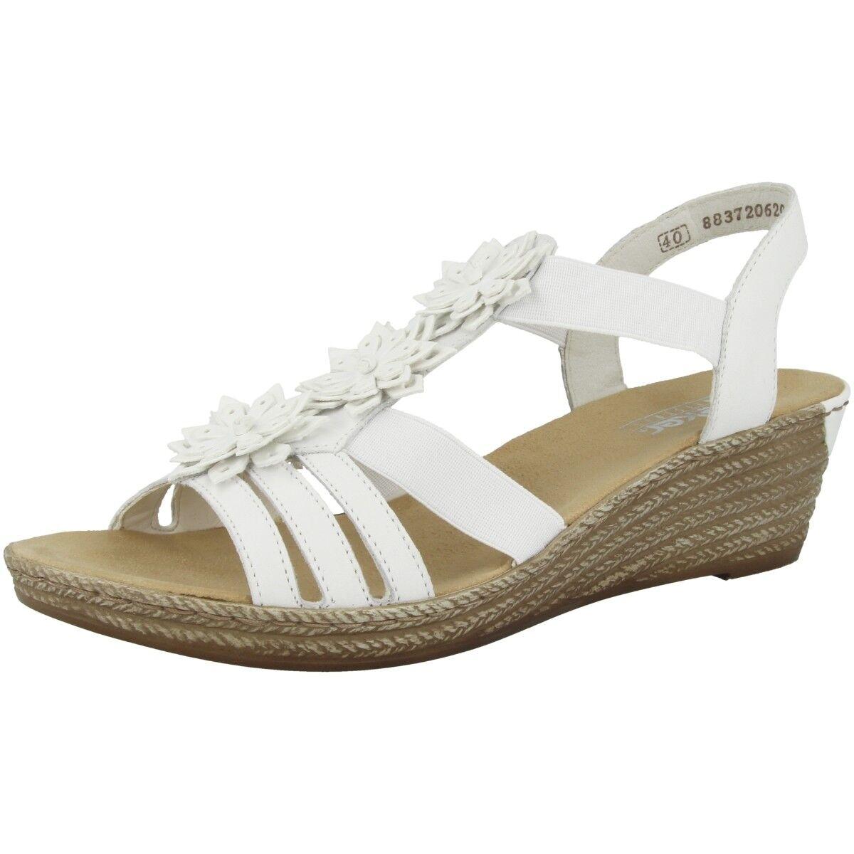Rieker newark-bogotá mujer zapatos anti estrés cuña decorado sandalias sandalias sandalias 62461-80  moda
