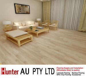 12mm Laminate Flooring Natural Oak Color Click Lock Floorboards