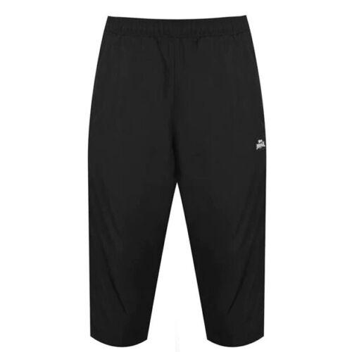 ✅LONSDALE 2 STRIPE Herren 3//4 kurze Hose Sport Fitness Trainings Freizeit Shorts