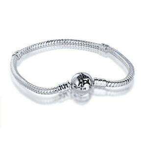 Brand-Logo-Style-Charm-Bracelet-bangle-chain-Fit-925-Silver-European-charms-Bead