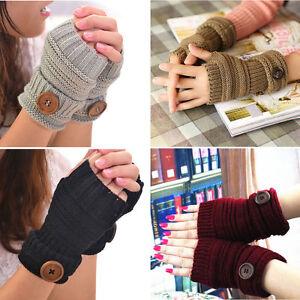 New-Women-Winter-Knitted-Wrist-Arm-Hand-Warmer-Long-Mitten-Fingerless-Gloves