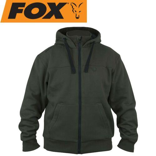 Anglerhoody Angelpullover Kapuzenpullover Fox Green Black heavy lined Hoodie