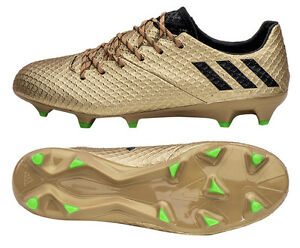 6fb0ed74c52 Adidas Messi 16.1 FG BA9109 Soccer Cleats Football Shoes Boots Gold ...