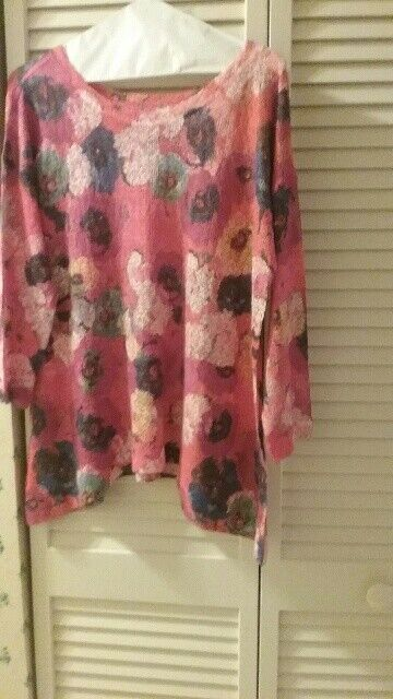 NWOT  Nally and Millie Brand Asymmetrical Lightweight Multi-color Knit Sweater S