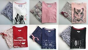 EVANS-PJ-SET-PYJAMAS-owl-bear-zebra-floral-check-koala-BNWOT-SIZES-14-32