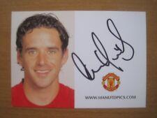 2007-08 Owen Hargreaves Signed Man Utd Club Card (4063)