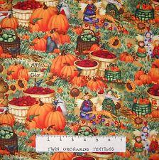 Fall Fabric - Harvest Angels Pumpkin Apple Scene - Spectrix SPX YARD