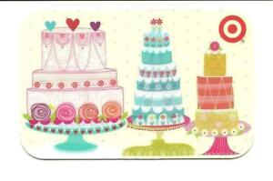 Excellent Target Birthday Cakes Glossy Gift Card No Value Collectible 2010 Personalised Birthday Cards Veneteletsinfo