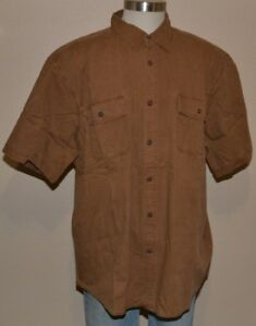 Basic Editions Long Sleeve Crosshatch Gray 100/% Cotton Shirt Men/'s 2XL NWT