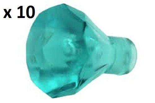 Lego Trans Light Blue Rock 1x1 Jewel 24 Facet x10 Friends Disney Batman Chima