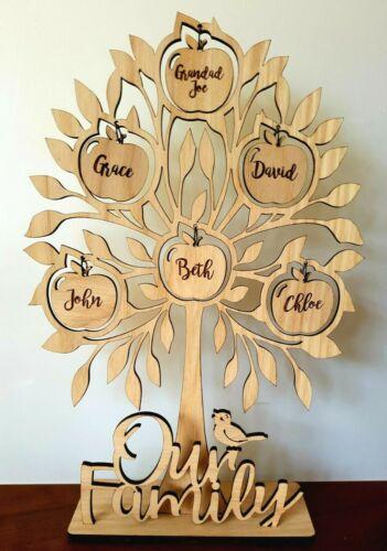 Personalised Oak Poplar Our Family Tree Maker Wall Shape Memory Tree Craft