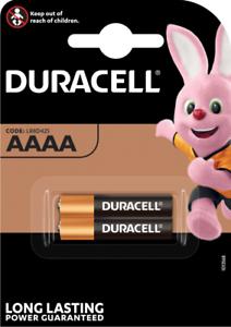 DURACELL MX2500 AAAA Pile Alcaline 1,5V, Blister Lot de 2 piles