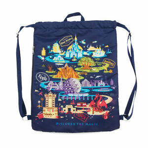 Details About Walt Disney World Discover The Magic Drawstring Bag New
