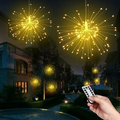 2X Hanging Starburst Light Firework LED Fairy String Light Home Wedding Decor
