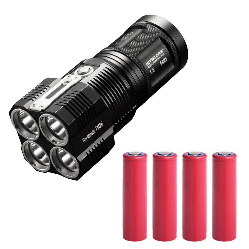 Bundle  Nitecore TM28 6000Lm Rechargeable Flashlight w4x 3500mAh Batteries