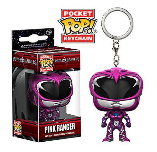 Pink Ranger Pocket Pop Keychain Official Power Rangers Funko Pop Vinyl Keyring