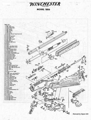 Winchester Model 1886 Hammer Retaining Screw