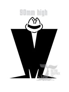 Madness decal sticker in black ska  sugs FREE POSTAGE