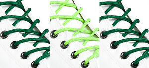 ROUND-GREEN-SHOE-LACES-LONG-SHOELACES-3mm-wide-11-LENGTHS-3-SHADES
