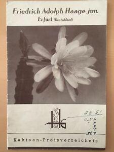 Rare-Friedrich-Adolph-Haage-Jun-Erfurt-Plants-amp-Seeds-Catalogue-Nursery-Cactus