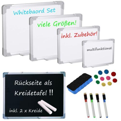 "/""CLASSIC/"" Whiteboard Blackboard Magnettafel Kreidetafel Schreibtafel weiß Tafel"