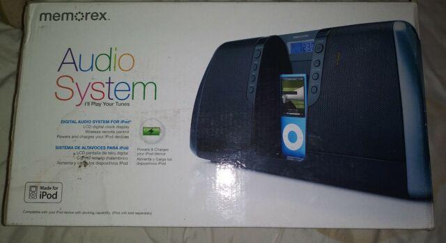 Black Memorex Digital Audio System with iPod Dock