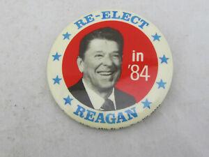 Vintage-Ronald-Reagan-1984-Re-Elect-Reagan-in-039-84-Political-Pin-Pinback-Button