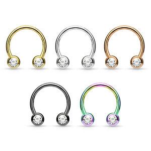 Hufeisen piercing septum ring brustpiercing lippenpiercing helix tragus ohrringe ebay - Lippenpiercing ring ...