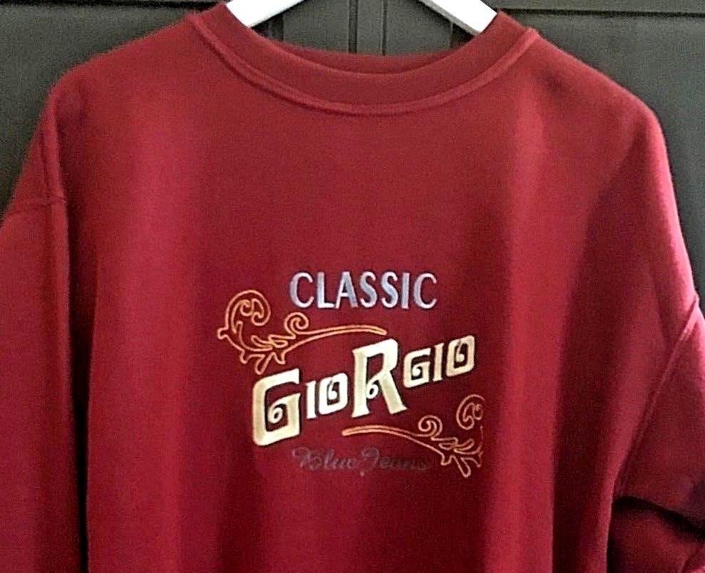 Very Rare Retro Vintage Original Old Skool High Quality GIORGIO Sweatshirt