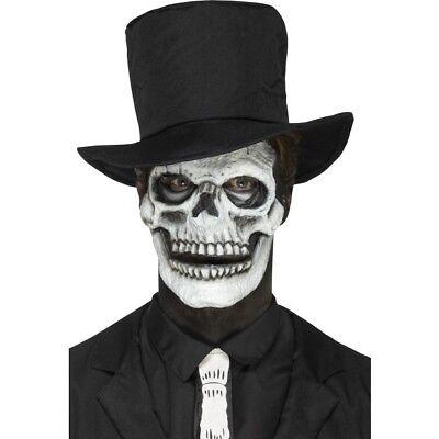 Coscienzioso Schiuma Latex Scheletro Faccia Protesi Adulti Special Fx Trucco Da Halloween Medulla Benefico A Essenziale